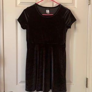 Holidays Edition black sued girls dress